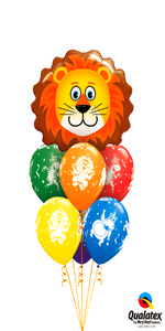 Zoo Party Bouquet (1 Large Lion Head, 6 Latex)