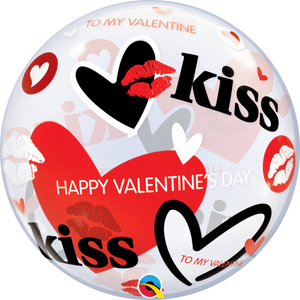 Valentine's Kisses & Hearts Bubble