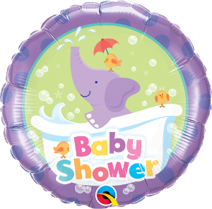 Baby Shower Purple Elephant