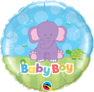Baby Boy Purple Elephant