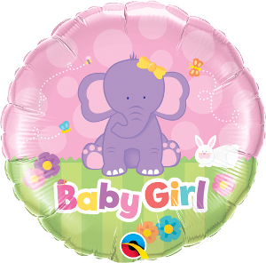 Baby Girl Purple Elephant
