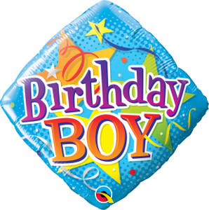 Birthday Boy Stars Foil
