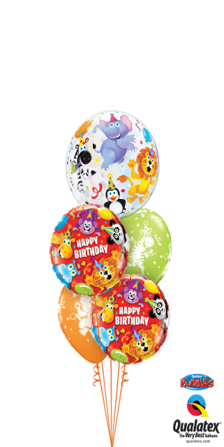 Happy Birthday Circus Bouquet (1 Bubble, 2 Foil, 2 Latex)
