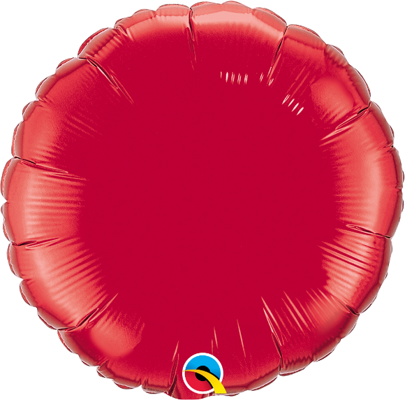 Ruby Red Circle Foil