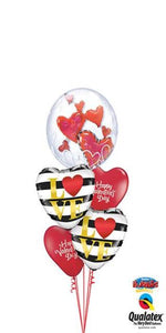 Floating Hearts ( 1 Double Bubble, 2 Foil Hearts, 2 Latex)