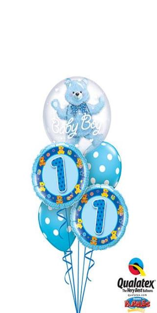 Baby Bear Blue (1 Double Bubble, 2 Foil, 2 Latex)