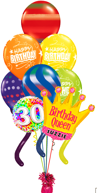 Jumbo Twisty Queen Bouquet Custom Name Age 9 Balloons Funtastic Balloon Creations