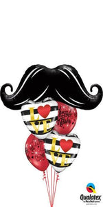 Layer Plus Hugs and Kisses (1 Large Mustache, 2 foil Hearts, 2 Latex)
