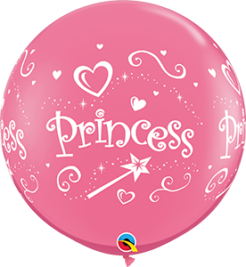 3' ROSE PRINCESS BALLOON