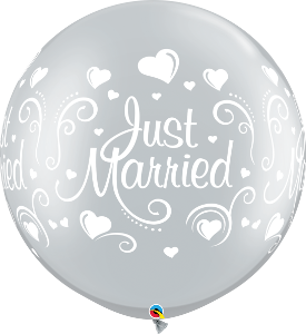 "30"" Just Married Silver"