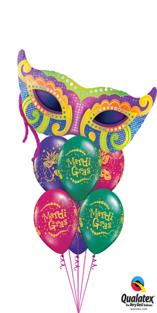 Mardi Gras (1 Large Foil, 6 Latex)