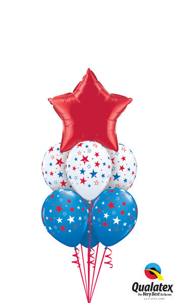 Red, White & Blue Stars (1 Foil, 6 Latex)