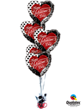 Pattern of Love Bouquet (5 Foil Hearts)
