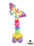 Breezy Butterfly Delight Column (1 Giant Butterfly, 22 Latex)