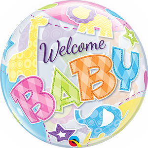 Welcome Baby Colorful Bubble