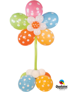 Polka Dot Flower Column