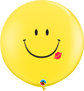 3' SMILE WITH A KISS BALLOON