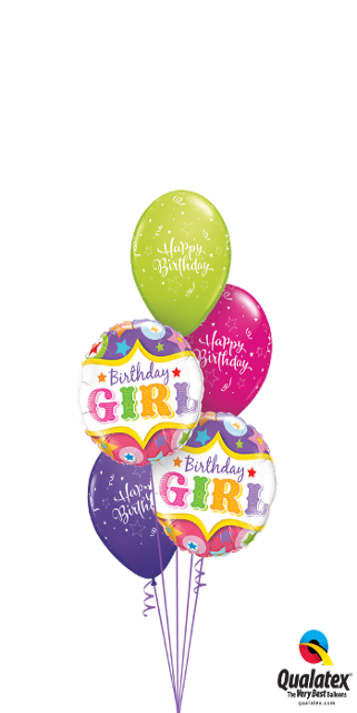 You're a Star Birthday Girl Bouquet (2 Foil, 3 Latex)
