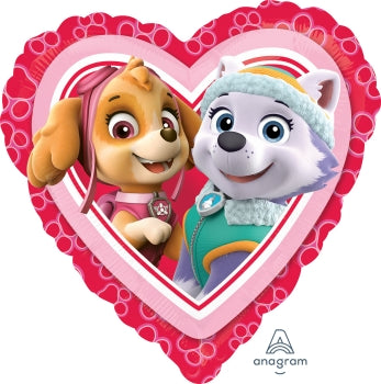 Paw Patrol Skye & Everest Heart Foil