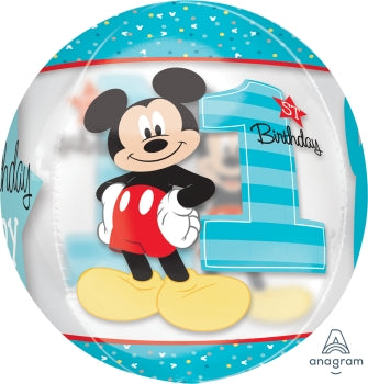 Mickey Mouse 1st Birthday Orbz