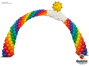 Sunshine Smile Face Rainbow Arch