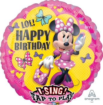 Minnie Mouse Happy Birthday Singing Balloon