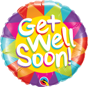 Get Well Soon Colorful Triangles