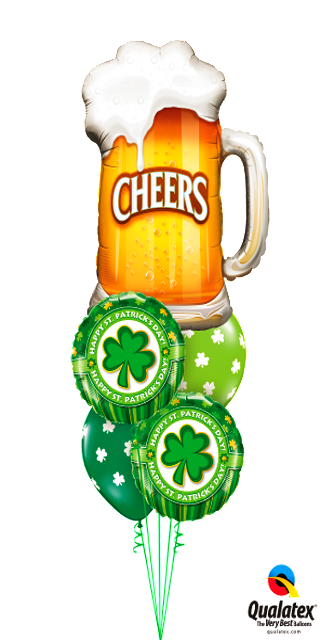 Cheers! It's St Patty's Day Bouquet (1 Large Foil, 2 Foil 2 Latex)