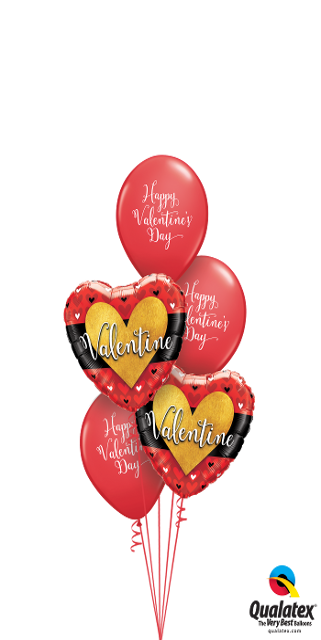 Script Valentine Wishes Bouquet (2 Foil, 3 Latex)