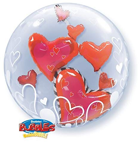 Double Bubble Heart Shaped Balloon