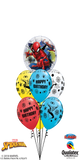 Spiderman Birthday Bubble Bouquet (1 Bubble, 6 Latex)