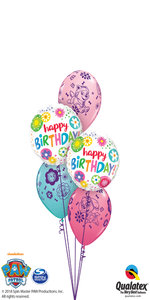 Paw Patrol Birthday Floral Circles (2 Foils, 3 Latex)
