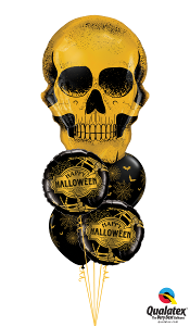 Happy Halloween Golden Skull Bouquet