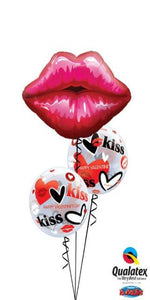 Kissey Valentine's Day Lips (1 Large Lips, 2 Bubbles)