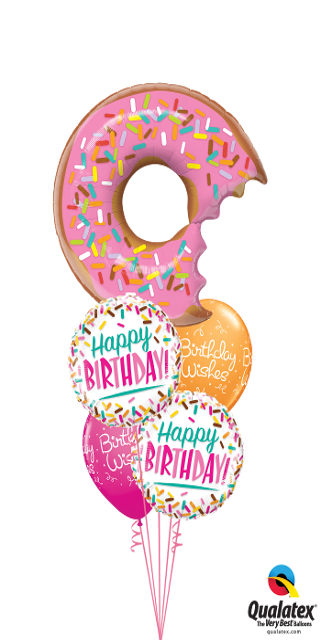 Sweet Birthday Sprinkles (1 Large Donut, 2 Foils, 2 Latex)
