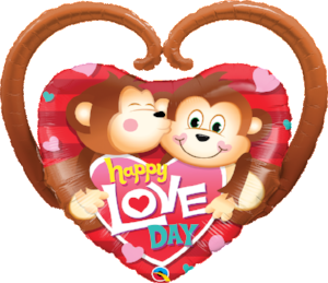Happy Love Day Monkeys