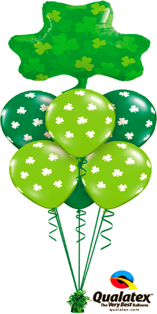 St. Patrick Shamrock (1 Large Foil, 6 Latex)