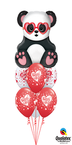 Panda Kisses & Hugs (1 Large Panda, 6 Latex)