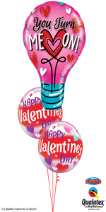 You Light up your life Valentine (1 Large Foil, 2 Bubbles)