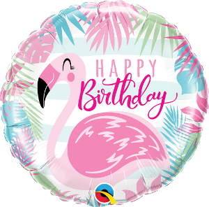Birthday Pink Flamingo Foil