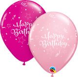 "11"" Birthday Shining Star Round Latex Balloons"