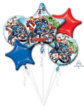Avengers Balloon Bouquet Kit (5 Mylar Balloons)
