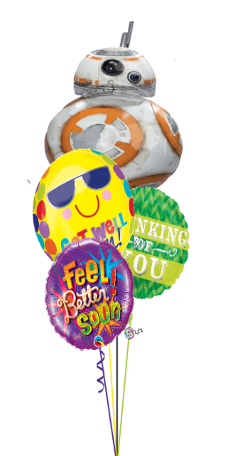 BB-8 Get Well Bouquet (4 Foils)