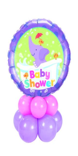 Baby Shower Elephant Centerpiece (1 Foil, 10 Latex)
