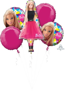 Barbie Balloon Bouquet Kit (5 Mylar Balloons)