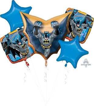 Batman Bouquet Kit (5 Mylar Balloons)