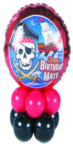 Birthday Pirate Mini (1 Foil, 10 Latex)