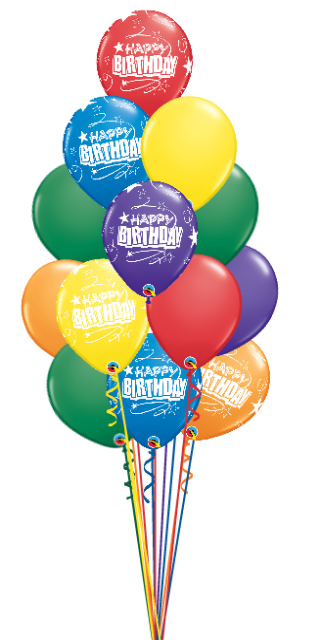 81 Balloon Salute Birthday Bouquet (81 , 11