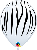 "11"" Zebra Stripes Latex Balloons"