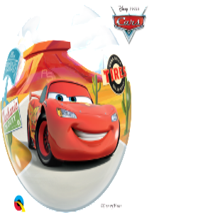 Lightening McQueen and Mater Bubble